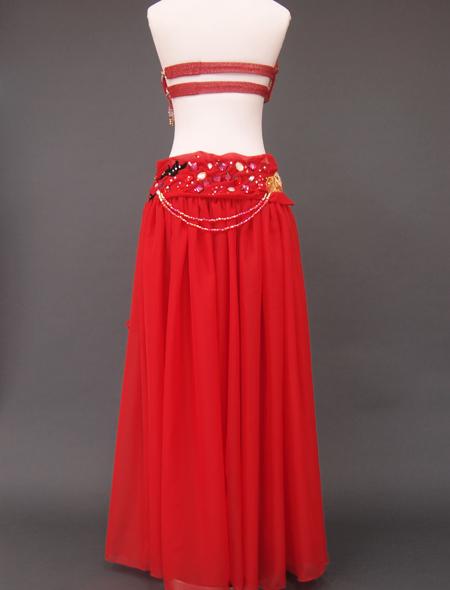 赤ラメベリーダンス衣装7 ミラーナ