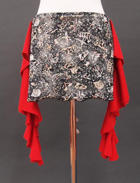 星座が描かれたヒップスカーフ2 ミラーナベリーダンス衣装