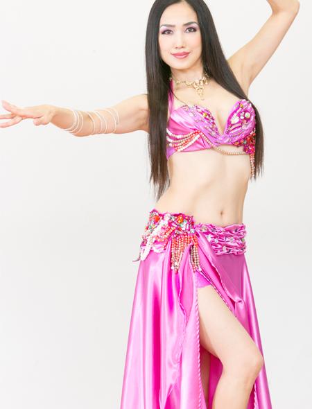 スモーキーピンクベリーダンス衣装1 ミラーナ