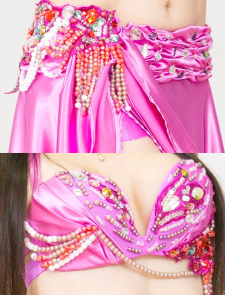 スモーキーピンクベリーダンス衣装3 ミラーナ