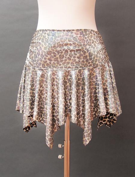 ヒョウ柄スカート2 ミラーナベリーダンス衣装