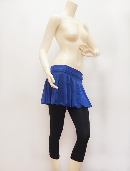 ブルー柄スカート ミラーナ ベリーダンス衣装