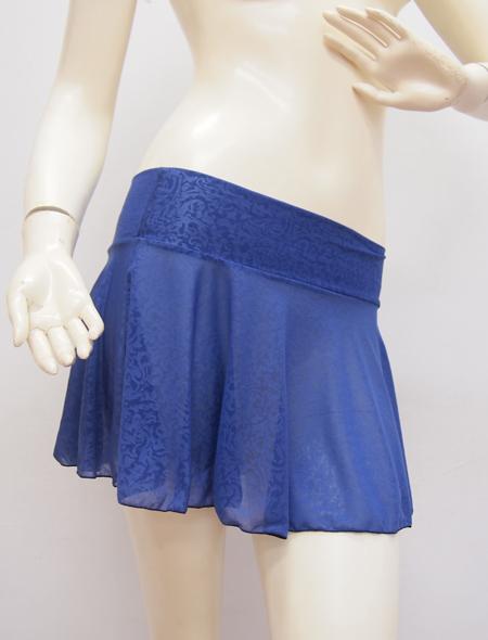 ブルー柄スカート ミラーナ ベリーダンス衣装3