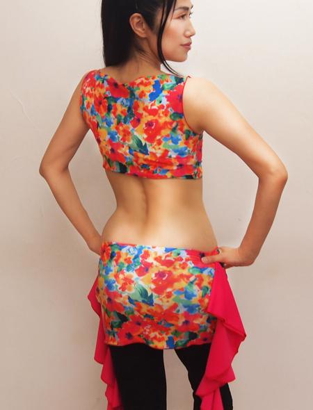 水彩画ノースリーブトップス1 ミラーナベリーダンス衣装