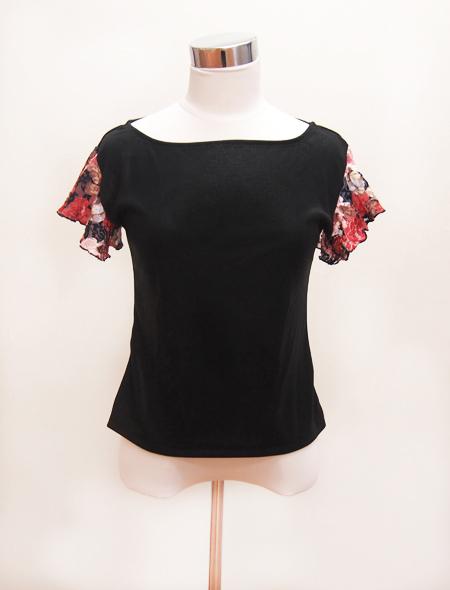 黒花レーストップス1 ミラーナベリーダンス衣装