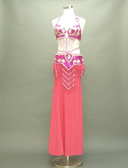 ピンクで上品な格安ベリーダンス衣装 ミラーナ