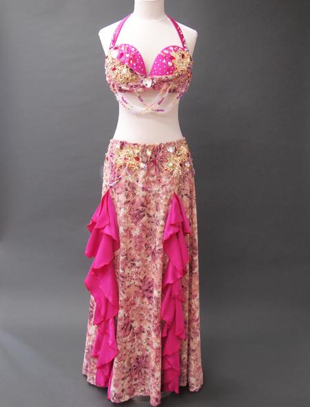 ピンクファンタジーベリーダンス衣装 ミラーナ
