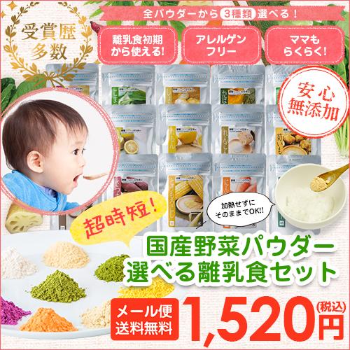 【メール便限定送料無料】離乳食セット【IPOT003】