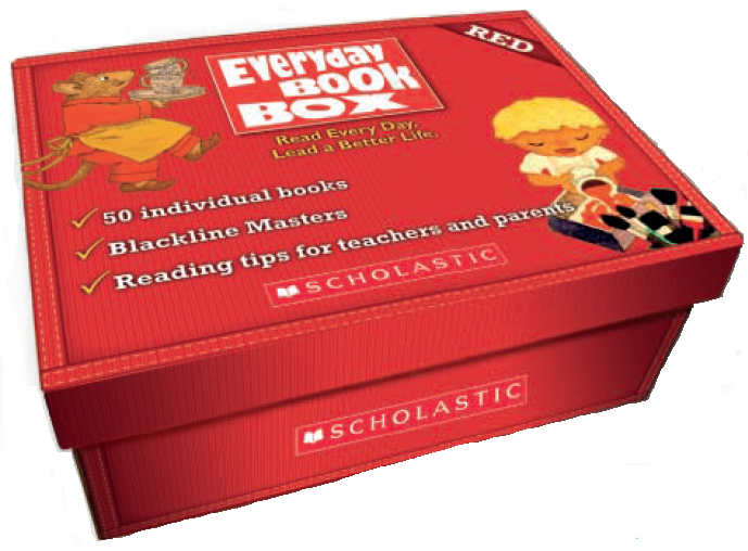 EVERYDAY BOOK BOX RED WITH CD (50 BOOKS & 2CD)