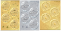 ENBOSSED AWARD SEALS(8シートメダル32枚と星40枚):メダルと星のシール3種類