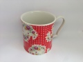 【Mug】Antique Paisley Red