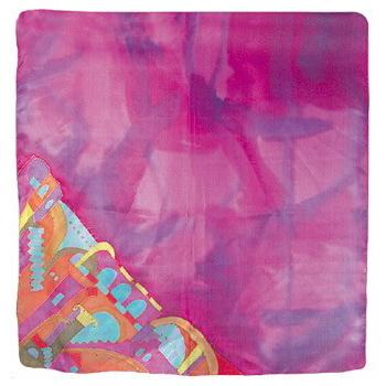 シルクスカーフ(大判正方形) ピンク