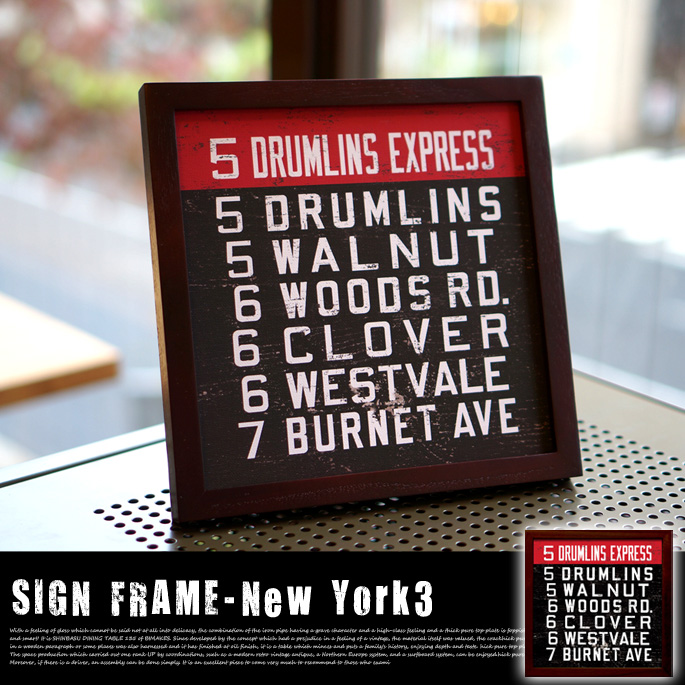 SIGN FRAME 「New York 3」