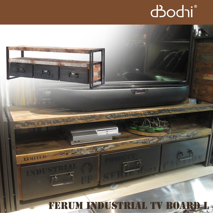 ferum industrial tv board l d bodhi bicasa. Black Bedroom Furniture Sets. Home Design Ideas
