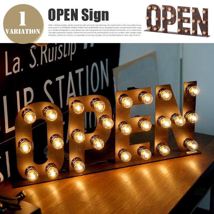 Sign Lamp OPEN(サインランプ オープン) AW-0403V アートワークスタジオ