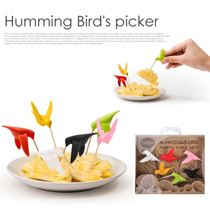 爪楊枝マーカ  HUMMINGBIRD PARTY FORK SET