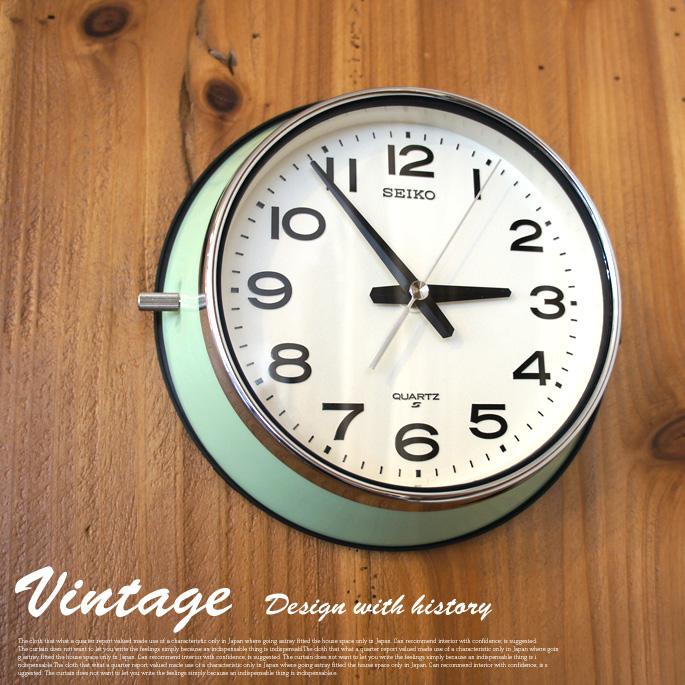 レトロ感溢れる昔ながらのスタイル! ヴィンテージクロック(vintage Clock) 掛時計 セイコー(seiko