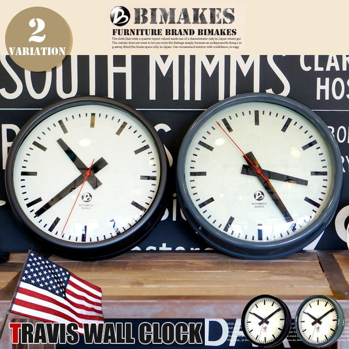 トラヴィスウォールクロック 掛時計 BIMAKES 全2色 送料無料
