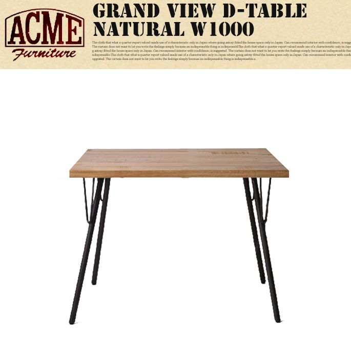 GRAND VIEW DINING TABLE NATURAL W1000 ACME
