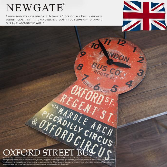 OXFORDSTREETBUS(オックスフォードストリートバス) ウォールクロック 掛け時計