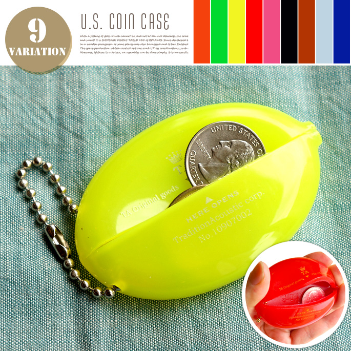 U.S. COIN CASE(ユーエスコインケース) MADE IN USA 財布・小銭入れ 全9色