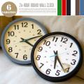 24-HOUR ROUND WALL CLOCK 掛時計 全4色 日本製