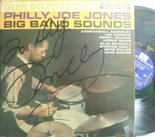 【米Riverside mono】Philly Joe Jones/Big Band Sounds Drums Around The World (Lee Morgan, Blue Mitchell, Benny Golson, Wynton Kelly, etc)