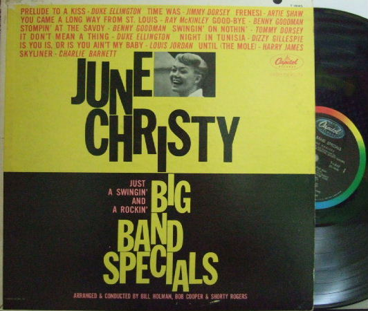 【米Capitol mono】June Christy/Big Band Special (Bob Cooper, Conte Candoli, Frank Rosolino, etc)