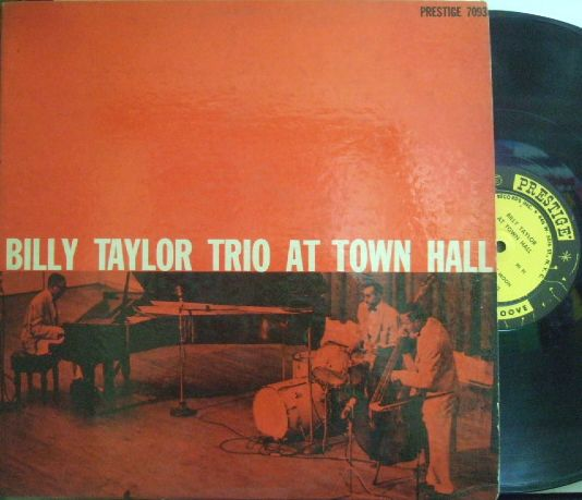 【米Prestige NYC mono】Billy Taylor Trio/At Town Hall