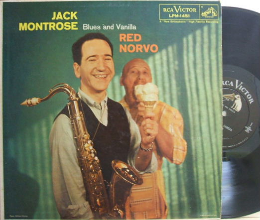 【米RCA Victor mono】Jack Montrose/Blues And Vanilla (Red Norvo, Jim Hall, etc)