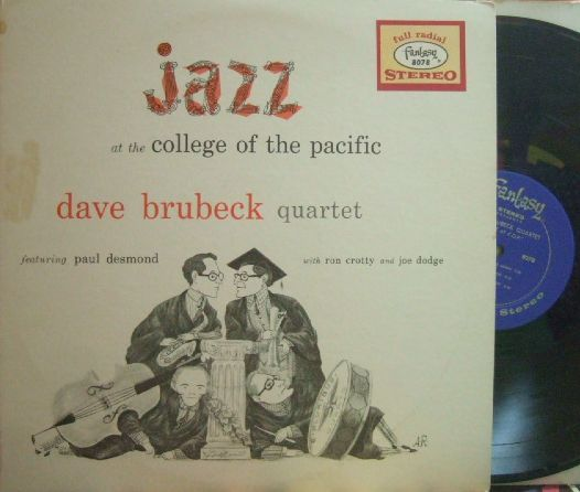 【米Fantasy 10' mono】Dave Brubeck/Jazz At College of Pacific