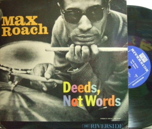 【米Riverside mono】Max Roach/Deeds, Not Words (Booker Little, George Coleman, etc)