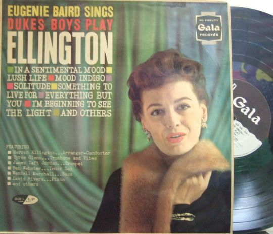 【英Gala mono】Eugenie Baird/sings Duke's Boys Play Ellington (Ben Webster, etc)