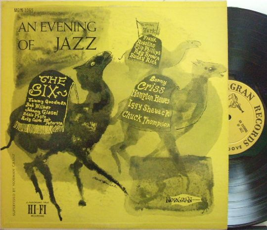 【米Norgran mono】Sonny Criss, Tommy Turk, Bob Wilbur & The Six/An Evening Of Jazz