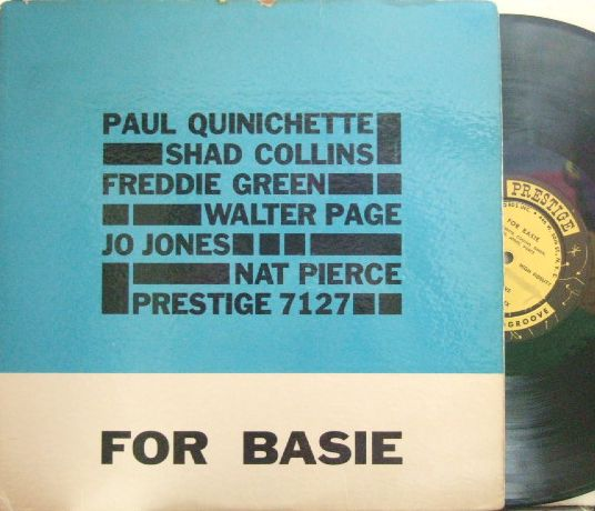 【米Prestige NYC mono】Paul Quinichette/For Basie (Freddie Green, Nat Pierce, Shad Collins, etc)