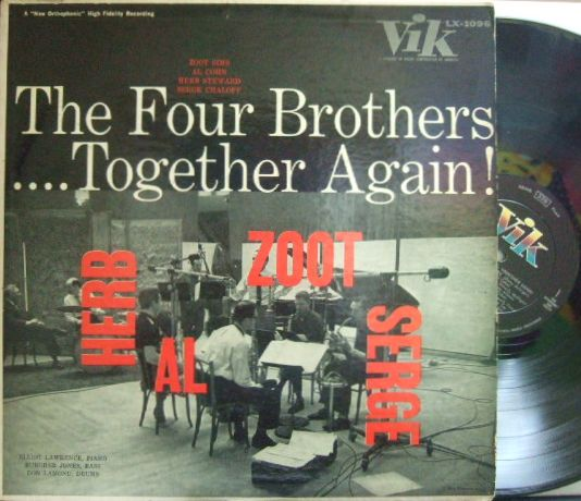 【米Vik mono】Zoot Sims, Serge Chaloff, Al Cohn, Herbie Steward, etc/Four Brothers-Together Again!