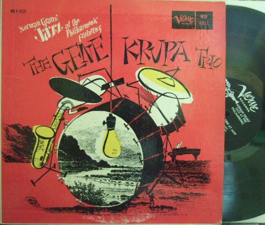 【米Verve mono】Gene Krupa Trio/Norman Granz' Jazz At The Philharmonic (Charlie Ventura, Teddy Napoleon)