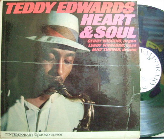 【米Contemporary mono】Teddy Edwards/Heart & Soul (Gerry Wiiggins, etc) (promo)