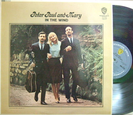 【英Warner Bros mono】Peter Paul and Mary/In The Wind