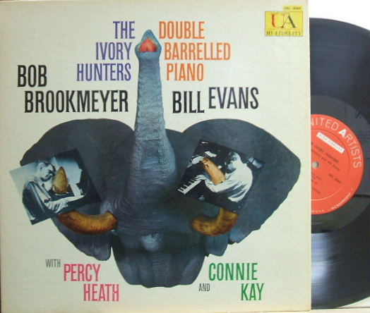 【米United Artists mono】Bob Brookmeyer-Bill Evans/Ivory Hunters - Double Barrelled Piano