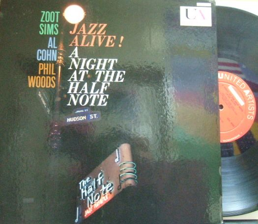 【米United Artists mono】Zoot Sims, Al Cohn, Phil Woods/Jazz Alive! A Night At The Half Note