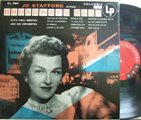 【米Columbia mono】Jo Stafford/Sings Broadway's Best