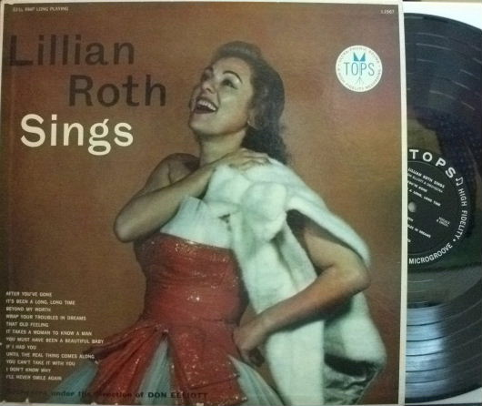【米Tops mono】Lillian Roth/Sings (Don Elliott)