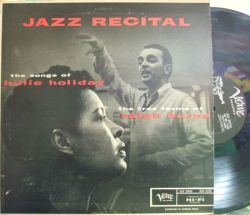 【米Verve mono】Billie Holiday & Ralph Barns/Jazz Recital (Lee Konitz, Danny Bank, etc)