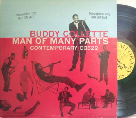 【米Contemporary mono】Buddy Collette/Man of Many Parts (Barney Kessel, Gerald Wiggins, Larry Bunker, etc) promo