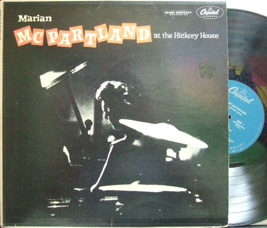 【米Capitol mono】Marian McPartland/At The Hickory House (Joe Morello, Bill Crow)