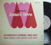 【米Argo mono】Hank Jones/Here's Love (Kenny Burrell, Milt Hinton, Elvin Jones)