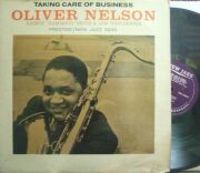 "【米New Jazz mono】Oliver Nelson/Taking Care of Business (Lem Winchester, Johnny ""Hammond"" Smith, etc)"
