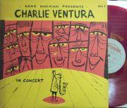 """【米Gene Norman mono】Charlie Ventura/In Concert (Conte Candoli, """"Boots"""" Mussilli, Jackie & Roy, etc)"""