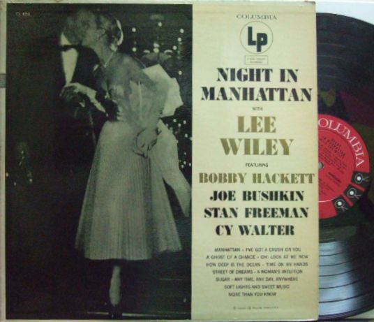 【米Columbia mono】Lee Wiley/Night In Manhattan (Featuring Bobby Hackett, Joe Bushkin, Stan Freeman, Cy Walter)